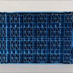 C-KLT-6428-2-Wasserablauflöcher-Stapelbox-gebraucht-blau-Foto5