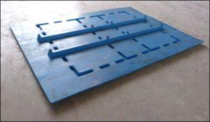 Sicherungsplatte für KLT SP 1218 in blau, Abdeckung, Auflagedeckel, Palettendeckel, Foto 1