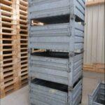 gebrauchte Stapeltransportbehälter mit Klappe 1000x800m, Foto5