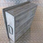 Stapeltransportkasten-Schäferkisten-LxBxH-400x400x130mm-metall-verzinkt-gebraucht-Foto3