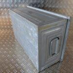Stapeltransportkasten, Kästen, Schäferkisten, Boxen, Schäfer, metall verzinkt, gebraucht, Foto 3