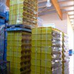 Lager-fix-14/7-3-PE-Kunststoff-Schäfer-Kisten-Stapeltransport-Kästen-Boxen-gelb-gebraucht-Foto7