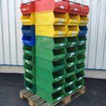 Sichtlagerkisten-Stapelbehälter-Stapelboxen-Lagerkästen-Sichtlagerkästen-gebraucht